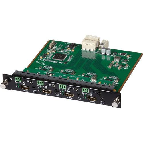 MuxLab 4 Channel HDMI/RS232 Input Card 4K UHD for 16x16 500481-I