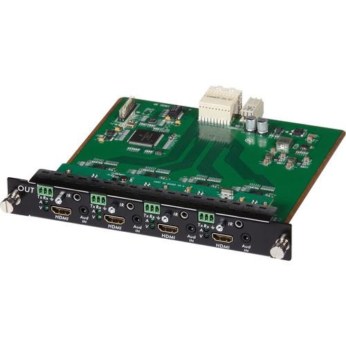 MuxLab 4 Channel HDMI/RS232 Output Card 4K UHD 500481-O