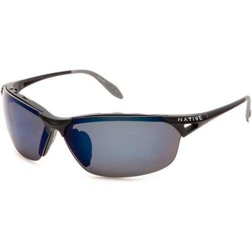Native Eyewear Vigor Sunglasses (Asphalt - Blue Lens) 139 302