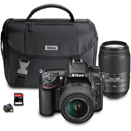 Nikon D7100 DSLR Camera with 18-55mm and 55-300mm Dual 13489
