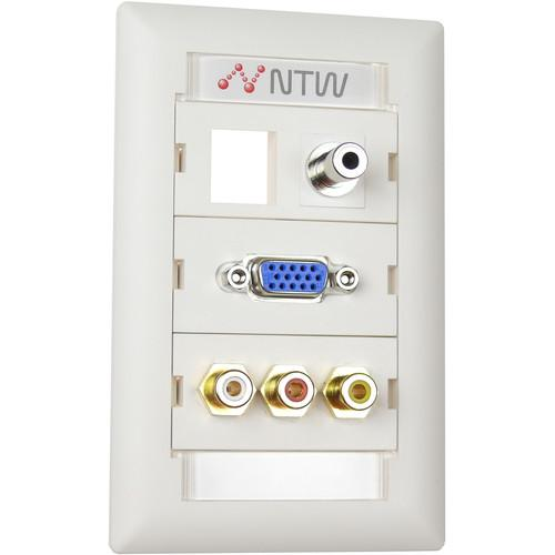 NTW  Customizable UniMedia Wall Plate NUNC-R335BV