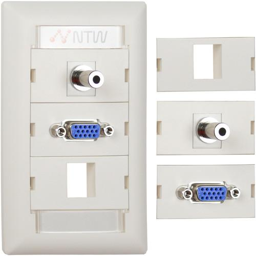 NTW  Customizable UniMedia Wall Plate NUNC-V35B