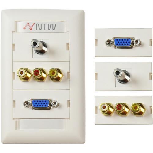 NTW  Customizable UniMedia Wall Plate NUNC-V35R3