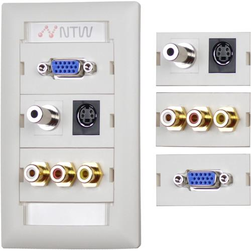 NTW  Customizable UniMedia Wall Plate NUNC-V35SR3