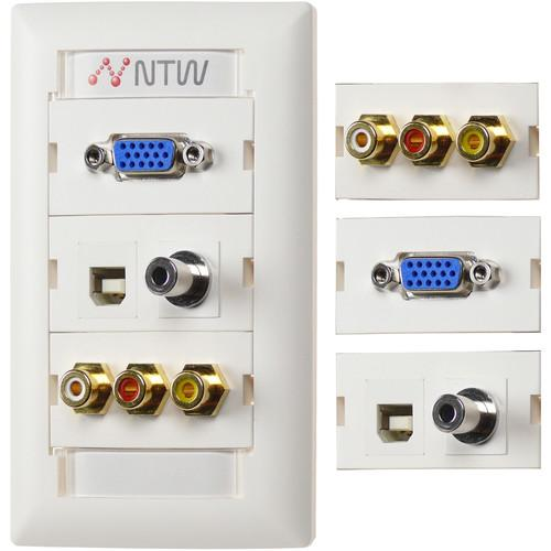 NTW Customizable UniMedia Wall Plate NUNC-V35UBR3