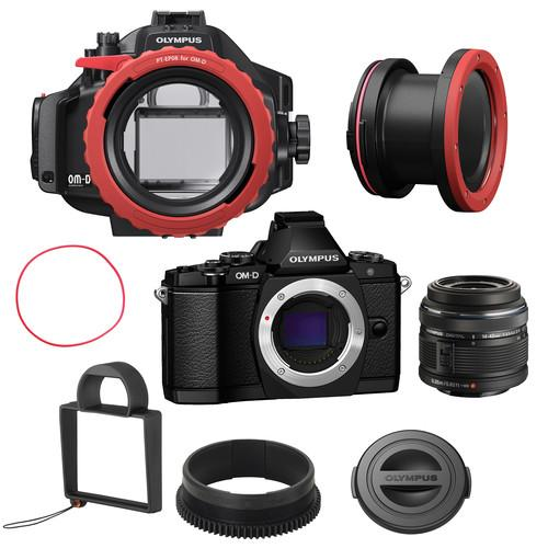 Olympus E-M5 Underwater Bundle with 14-42mm Lens V204041BU050