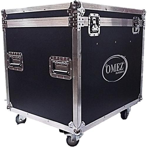 OMEZ Road Case with 4 O-Matrix5 Wash Blinder Fixtures OM211