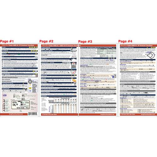 PhotoBert CheatSheet for Canon 430EX III-RT/430EX III 4S162-15