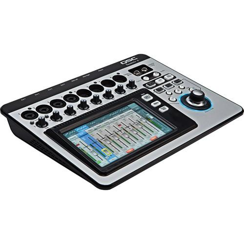 QSC TouchMix-8 Compact Digital Mixer Kit with 4x Microphones