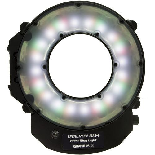 Quantum Omicron 4 Compact LED Video Ring Light Kit