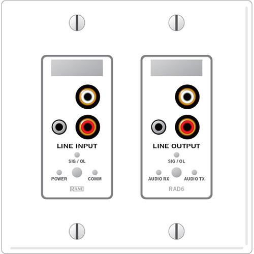 Rane  RAD6 Remote Audio Device (White) RAD6W