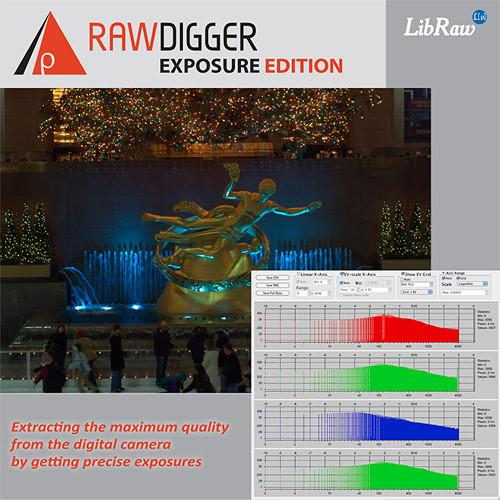 RawDigger RawDigger Software, Exposure Edition (Download) RD1EE