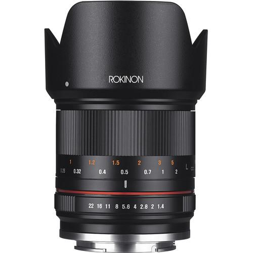 Rokinon 21mm f/1.4 Lens for Canon EF-M (Black) RK21M-M