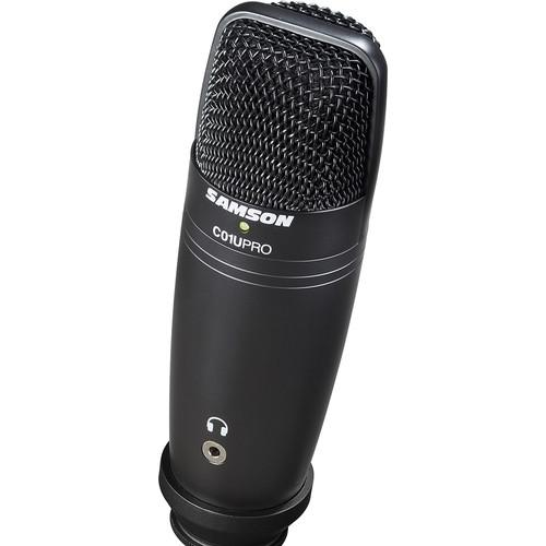 Samson C01U Pro USB Mic & Stand/Exclusive Black Kit