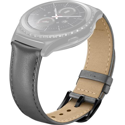 Samsung Leather Band for Gear S2 Classic (Gray) ET-SLR73MSEBUS