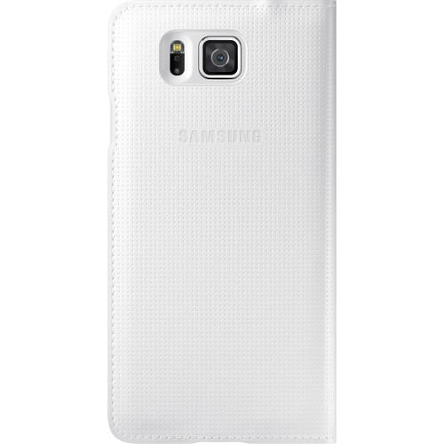 Samsung S-View Flip Cover for Galaxy Alpha (White)
