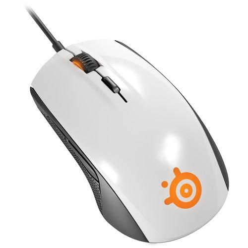 SteelSeries Rival 100 Optical Gaming Mouse (White) 62335