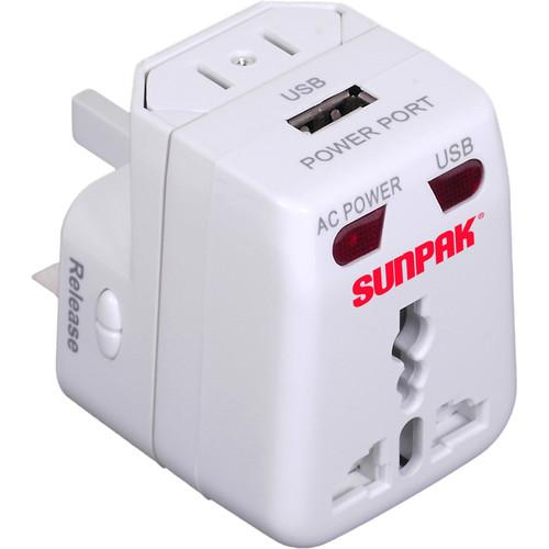 Sunpak Universal Power Adapter (White) TRAVEL-ADAPT