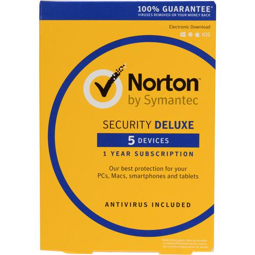 Symantec Norton Security Deluxe (5-Devices, 1-Year) 21353874