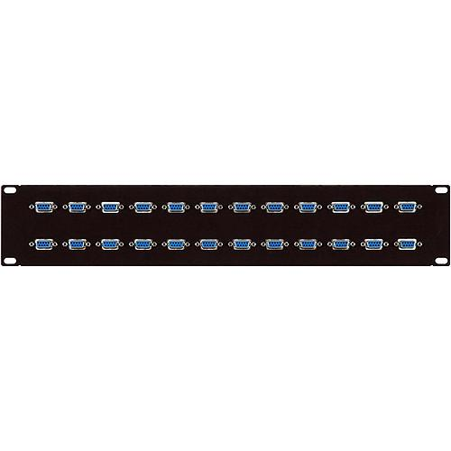 TecNec 12-Point 9-Pin Sub-D Male Patch Bay 12XDB9M/M