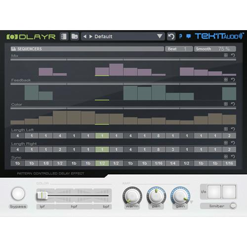 Tek'it Audio DlayR - Pattern Controlled Delay Plug-In 11-31278