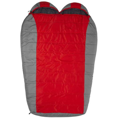 TETON Sports Tracker 2 Person Sleeping Bag (Red / Gray) 1109