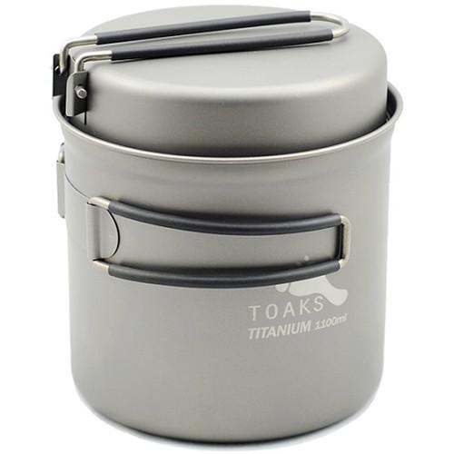 Toaks Outdoor Titanium 1100mL Pot with Pan CKW-1100