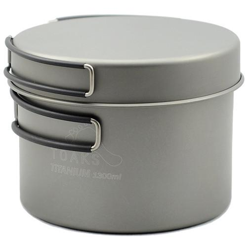 Toaks Outdoor Titanium 1300mL Pot with Pan CKW-1300