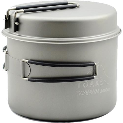 Toaks Outdoor Titanium 1600mL Pot with Pan CKW-1600
