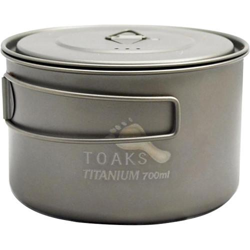 Toaks Outdoor Titanium�Wide-Mouth Pot (700mL)