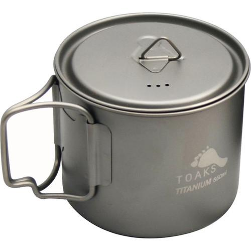 Toaks Outdoor  Titanium Pot (550mL) POT-550-L