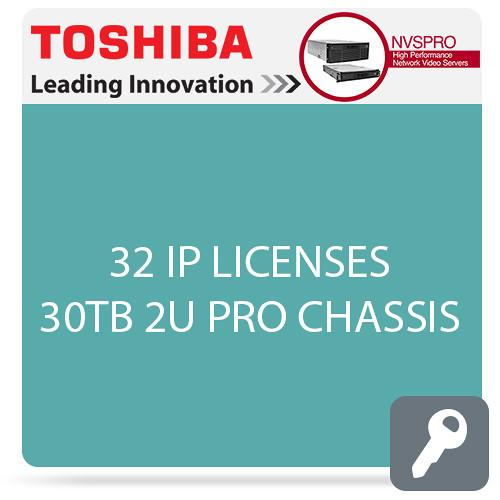 Toshiba NVSPRO Series 32-Channel 2U Rack Mount NVSPRO32-2U-30T