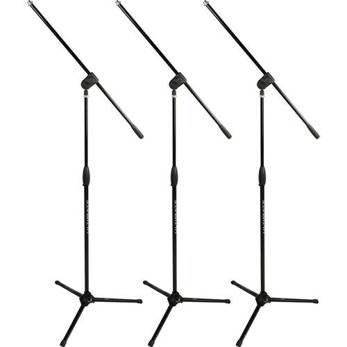 Ultimate Support MC-40B PRO Mic Stand with Boom (3-Pack) 17951