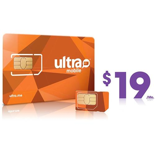 Ultra Mobile $19 International Plan with 3-Size SIM ULTRA-SIM 19