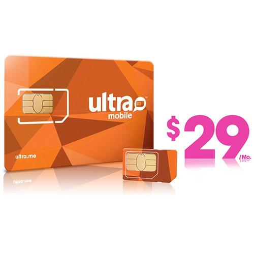 Ultra Mobile $29 International Plan with 3-Size SIM ULTRA-SIM 29