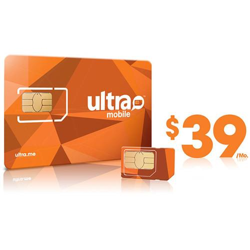 Ultra Mobile $39 International Plan with 3-Size SIM ULTRA-SIM 39