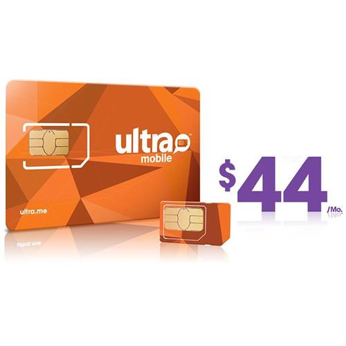 Ultra Mobile $44 4GB Data Plus Plan with 3-Size SIM ULTRA-SIM 44