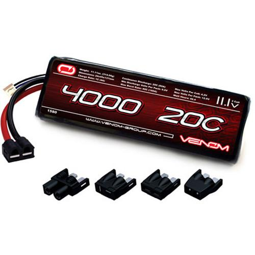 Venom Group 4000mAh LiPo Battery with Universal Plug System 1580