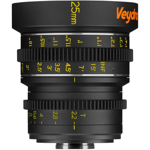 Veydra 25mm T2.2 Mini Prime Lens (C-Mount, Feet) V1-25T22CMOUNTI