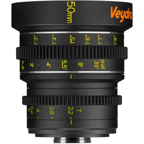 Veydra 50mm T2.2 Mini Prime Lens (C-Mount, Feet) V1-50T22CMOUNTI