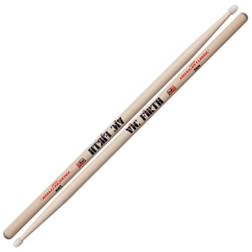 VIC FIRTH American Classic Nylon Tip Hickory Drumsticks 7AN 7AN