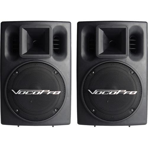 VocoPro PV-802 400W Powered Vocal Speaker System PV-802 (PAIR)