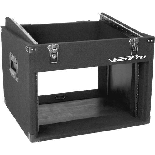 VocoPro Slanted Top Mixer Transport Case (12 RU) CLUB-6