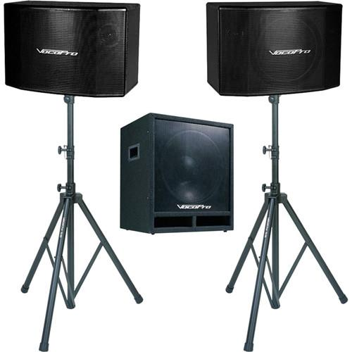 VocoPro SSP-600 Vocal Speaker & Subwoofer Kit SSP-600