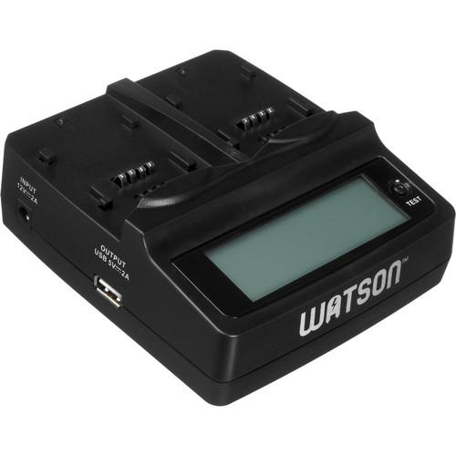 Watson Duo LCD Charger Kit with 2 Battery Adapter Plates