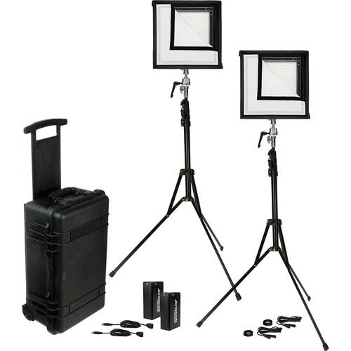 Westcott Flex Daylight LED Mat 2-Light Cine Travel Kit 7555
