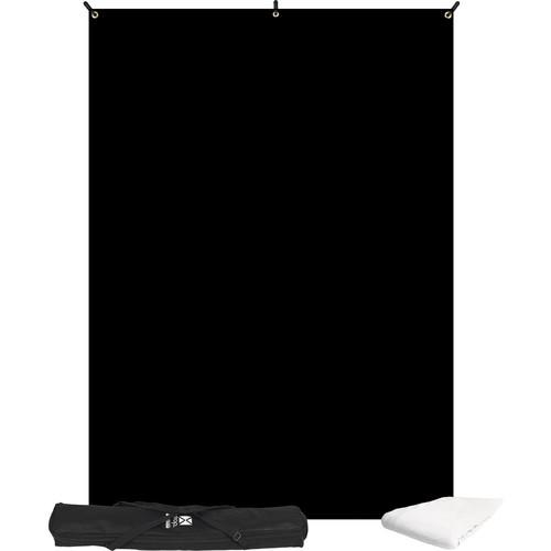 Westcott X-Drop Two Backdrop Bundle (Black/White, 5x7') 577K-KB
