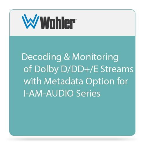 Wohler Decoding & Monitoring of Dolby D/DD /E OPT-DOLBY