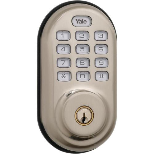 Yale Push Button Deadbolt Standalone (Satin Nickel) YRD210NCR619