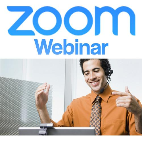 Zoom Video Conferencing Zoom Pro Webinar Add-On ZOOM-W-100-Y